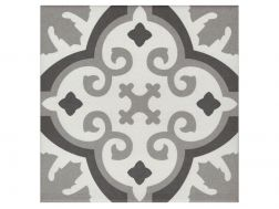 OTTO NOIR 20x20 - Floor tile with cement tiles, porcelain.