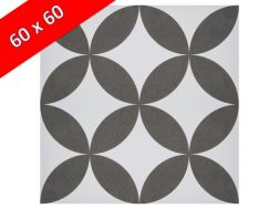 MELANIE 60x60 - Floor tile with cement tiles, porcelain.