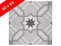 CAMILLE 60x60 - Floor tile with cement tiles, porcelain.