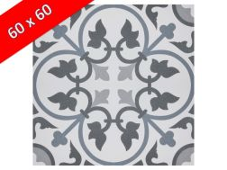 COLETTE 60x60 - Floor tile with cement tiles, porcelain.