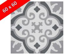 CARLOTTA 60x60 - Floor tile with cement tiles, porcelain.