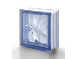 Glass block, transparent block - corrugated - BLU Q19 O Pegasus 20 x 20