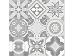 MILA COLD GROUND 60,7x60,7 - Floor tile with cement tiles, porcelain.