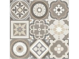 MILA WARM GROUND 60,7x60,7 - Floor tile with cement tiles, porcelain.