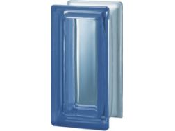 Half glass block, transparent block - smooth - BLU R09 T Pegasus 10 x 20