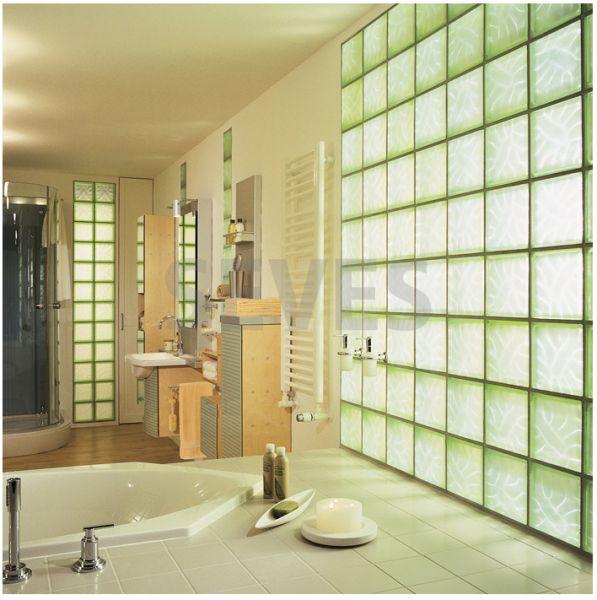 Pavers, Bricks of Glasses Rose - Curved Corner Glass Brick, Opaque ...