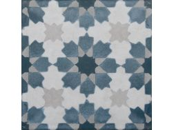 Vintage Decor 02 azul 20x20 - Tile, speckled cement tile look - Vintage Decus