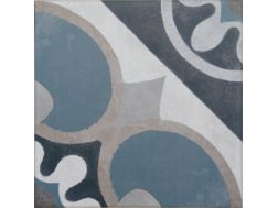 Vintage Decor 04 azul 20x20 - Tile, speckled cement tile look - Vintage Decus