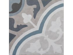 Vintage Decor 05 azul 20x20 - Tile, speckled cement tile look - Vintage Decus