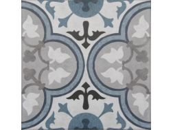 Vintage Decor 06 azul 20x20 - Tile, speckled cement tile look - Vintage Decus