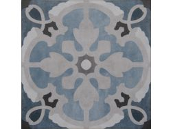 Vintage Decor 08 azul 20x20 - Tile, speckled cement tile look - Vintage Decus