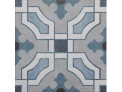 Vintage Decor 10 azul 20x20 - Tile, speckled cement tile look - Vintage Decus