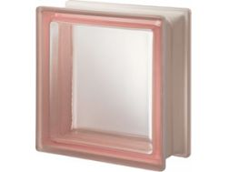 Glass block, transparent block - satin smooth one side - ROSA Q19 T SAT 1 LATO Pegasus 20 x 20