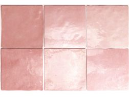 ARTISAN ROSE MALLOW 13 x 13 cm - earthenware tiles, the Oriental style, Moorish or Zellig