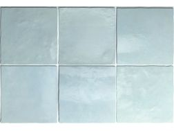 ARTISAN AQUA 13 x 13 cm - earthenware tiles, the Oriental style, Moorish or Zellig