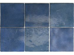 ARTISAN COLONIAL BLUE 13 x 13 cm - earthenware tiles, the Oriental style, Moorish or Zellig