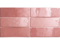 ARTISAN ROSE MALLOW 6,5 x 20 cm - earthenware tiles, the Oriental style, Moorish or Zellig