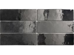 ARTISAN GRAPHITE 6,5 x 20 cm - earthenware tiles, the Oriental style, Moorish or Zellig