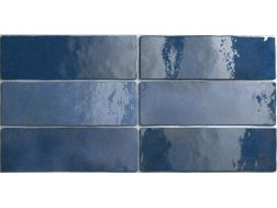 ARTISAN COLONIAL BLUE 6,5 x 20 cm - earthenware tiles, the Oriental style, Moorish or Zellig