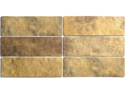 ARTISAN GOLD 6,5 x 20 cm - earthenware tiles, the Oriental style, Moorish or Zellig