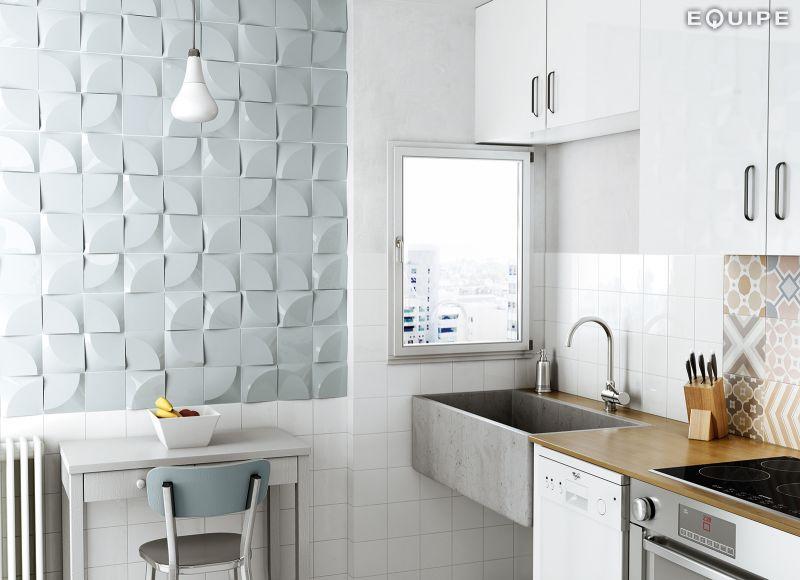 MAGICAL 3D TIROL SKY BLUE 10x12   3D Wall Relief Tile