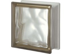 Glass block, transparent block - satin corrugated one side - SIENA Q19 O SAT 1 LATO Pegasus 20 x 20