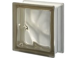 Glass block, transparent block - corrugated - SIENA Q19 O Pegasus 20 x 20