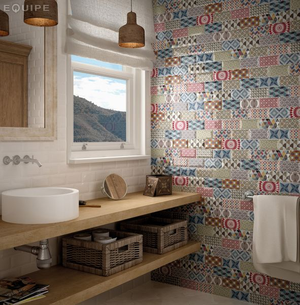 Floor and wall tiling. Metro - Metro 10x20 cm ROSSO - subway tiling ...