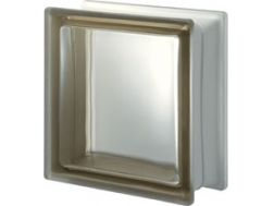 Glass block, transparent block - satin smooth one side - SIENA Q19 T SAT 1 LATO Pegasus 20 x 20