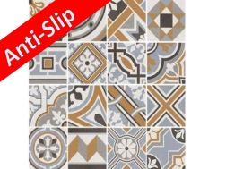 Anti-slip MICRO REVIVAL 20x20 - Tile, cement tile style, porcelain.