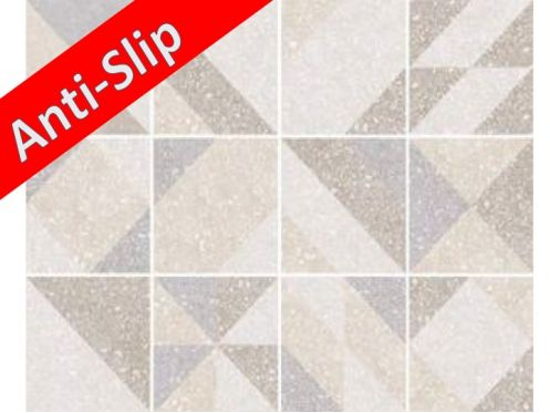 Anti-slip MICRO ELEMENTS TAUPE 20x20 - Tile, cement tile style, porcelain.