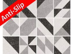 Anti-slip MICRO ELEMENTS GREY 20x20 - Tile, cement tile style, porcelain.