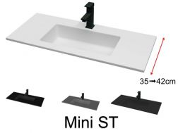 Very small bathroom washbasin, 41 x 101 cm - Mini 35 (ST)