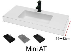Very small bathroom washbasin, 35 x 100 cm - Mini 35 (AT)