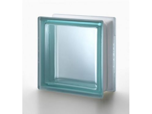 Glass block, transparent block - satin smooth one side - TURCHESE Q19 T SAT 1 LATO Pegasus 20 x 20