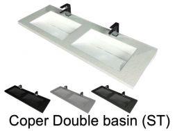 Double washbasin, 50 x 200, in resin - Coper double basin ST
