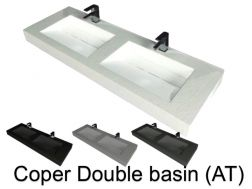 Double washbasin, 50 x 200, in resin - Still double basin AT