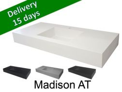 Washbasin top with integrated washbasin, width 50 x 130 cm - Madison AT