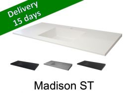 Washbasin top with integrated washbasin, width 50 x 130 cm - Madison ST
