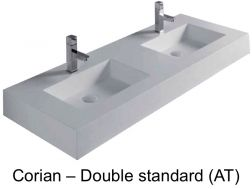 120 x 46 cm Corian Solid Surface Corian Double Bathroom Vanity Top - Bari