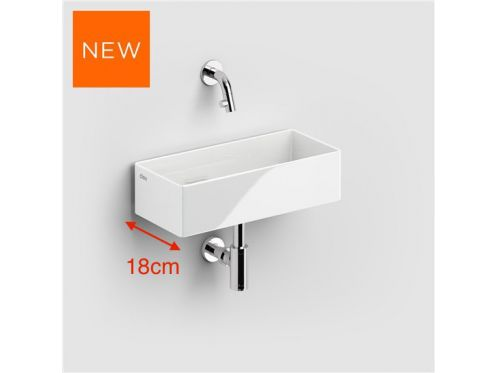 Design hand washbasin, 18 x 38 cm, made of fine ceramic - CLOU NEW FLUSH 3