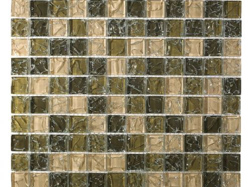 CRA011 - crackle glass, Mosaic glass tile 30x30 cm. Acqualine