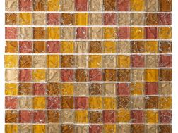 CRA010 - crackle glass, Mosaic glass tile 30x30 cm. Acqualine