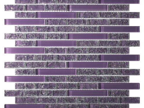CRA002 crackle glass, Mosaic glass tile 29,8X30,5 cm. Acqualine
