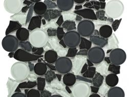 bah201 - Mosaic glass tile 30x30 cm. Acqualine
