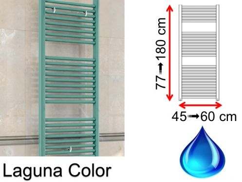 Hydraulic towel dryer, hot water central heating, small size and large size - Laguna Color SCIROCCO