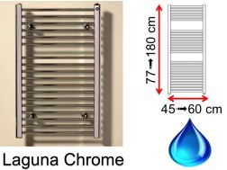 Hydraulic towel dryer, hot water central heating, small size and large size - Laguna chrome SCIROCCO