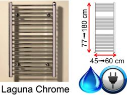 Mixed towel dryer, small and large - Laguna chrome SCIROCCO