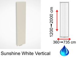 Hydraulic dry towel radiator, in central heating hot water - Sunshine White Vertical SCIROCCO