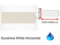 Hydraulic dry towel radiator, in central heating hot water - Sunshine White Horizontal SCIROCCO